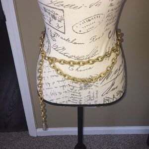 Vintage 94' Authentic gold plate heavy chain belt